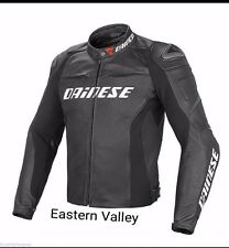 New Mens DAINESE Motorcycle Racing Biker 100% Cowhide Leather Jacket ALL SIZES.