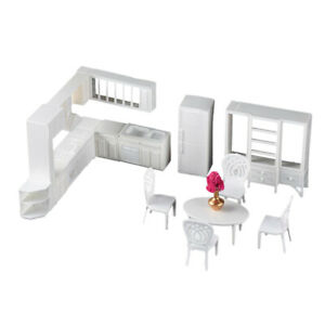 1/25 Modern Kitchen Furniture Table Chair Model Building Kits DIY Ornaments
