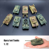 8pcs 4D 1:72 Tanks Heavy Weapons Armor Tank DIY Assembly Military Vehicle Model