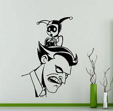 Joker Harley Quinn Wall Decal Comics Vinyl Sticker Superheroes Decor Mural 210su