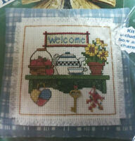 Cherished Charms You're Welcome Counted Cross Stitch Kit 72369 Country Shelf Key