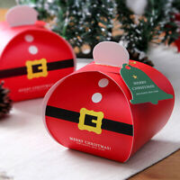 Christmas Bag Boxes Favour Gift Present Sweets Candy Carrier Xmas Party Festival