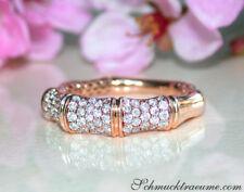 Interessanter Diamant Ring im Bambus Design in Roségold 750 0.60 ct. W SI 2550€