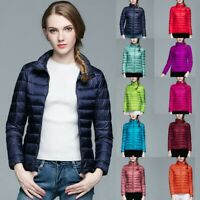 Fashion Women's Packable Down Jacket Ultralight Stand Collar Coat Winter Puffer