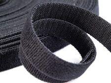 Beidseitig Farbe schwarz 10 25 30 mm 1,75€//m-3,00€//m 2m Klettband Back to Back