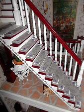 """Stufenmatten 13 Stück Treppe Teppiche Puppenhaus 1:12 Puppenstube """"grau"""""""