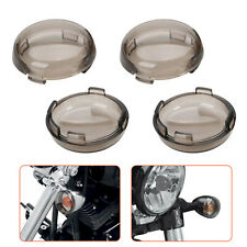 4X Smoke Turn Signal Light Cover Lens for Harley Electra Glide Road King Touring
