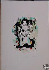 ERNESTO TRECCANI litografia FANCIULLA 50x35 firmato numerato 125 es