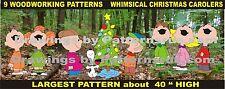 9 WHIMSICAL CAROLERS CHRISTMAS WOODWORKING PATTERNS ,plan, craft YARD ART
