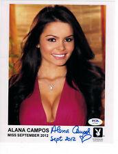 Alana Campos Signed 8x10 Photo Autograph Playboy Miss September 2012 PSA/DNA COA