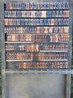 Letterpress Wood Type - 6 Line      C79