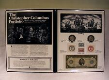 Christopher Columbus Portfolio - Coin Currency Stamp Commemorative w/ $5 - 1914