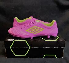 UMBRO UX Accuro Pro HG FG Soccer Football Cleats (US Sz 11.5) Purple/Green