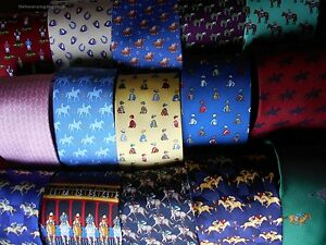 Most comprehensive range of horse racing themed ties on eBay Horsey Gifts
