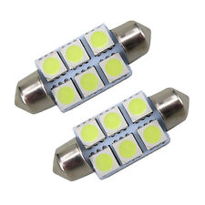 12V White Dome LED 6 SMD 31mm C5W Car Interior Bulb Light Lamp *