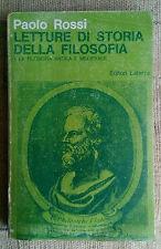 Letture di storia della filosofia - I.La filosofia antica e medievale