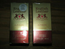 Two 2 BRAND NEW Bottles ENGLISH LEATHER AFTER SHAVE 3.4 oz. each