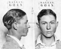 CLYDE BARROW MUG SHOT BONNIE AND CLYDE - 8X10 PHOTO (RT801)