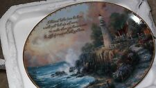 Bradford Exchange Thomas Kinkade's Guding Lights The Light of Peace Plate #9945A