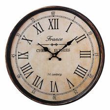 Wooden Wall Clock Large Art Round Numerals Home Garden Outdoor Decor Supplies