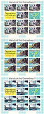 St VINCENT BEQUIA 1981 ISLANDS OF THE GRENADINES II SET OF ALL 3 SHEETS MNH
