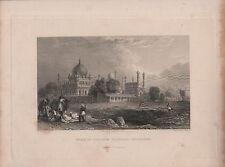 """India/Antiguo Impresiones - """"tumba de Ibrahim padsela, bejapore"""" - Allom & Capt. Elliot"""