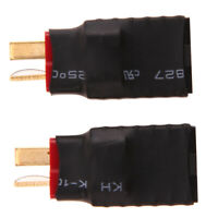 2pcs Wireless Female for Traxxas to T-Plug Deans Style Connector Adapter