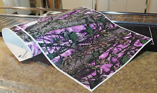 """GIRL CAMO DECAL MADE FROM 3M WRAP VINYL 48""""x15"""" MUDDY PRINT CAMOUFLAGE HOT PINK"""