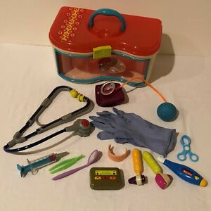 B Toys Pretend Play Doctor Medical Set Kit Toy Pager Stethoscope Storage Case