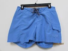 women size 6 THE NORTH FACE light blue pool shorts Side pocket  Fly Swim