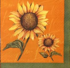 20 paper napkins for Decoupage Crafts or Collection Sunflower Flowers Sunflowers
