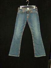 Von Dutch Levi Low Rider Jeans Size 27 Red Stitching #600118 Actual 28 x 33