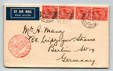 Gb 1934 Airmail Cover to Germany / Luftpost Berlin C2 Cachet - Z13769