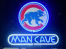 """New Chicago Cubs Mlb World Series Bar Real Glass Man Cave Neon Sign 20""""x16"""""""