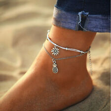Anklet Beach Footwear Anklet G Fashion Women Handmade Beaded Double Chain