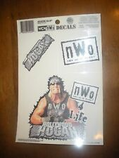 RARE 1998 WCW NWO HOLLYWOOD HULK HOGAN WINDOW CLING SET  BRAND NEW DECAL CAR