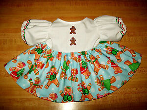 """DRESS CHIRSTMAS GINGERBREAD SKIRT W/ BUTTONS FOR 16-18"""" CPK Cabbage Patch Kids"""