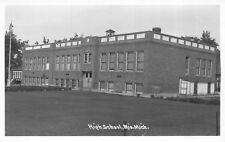 Real Photo Postcard High School in Mio, Michigan~118678