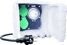ELRO 2Fach Steckdose Außensteckdose mit Timer Außen IP44 Gartensteckdose PA-211
