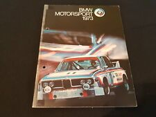 BMW Motorsport 1973 Tourenwagen 3.0 CSL 2002 BMW Alpina Prospekt Brochure