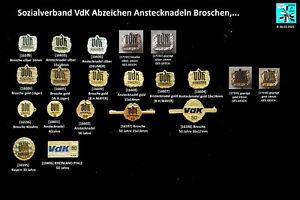 Sozialverband VdK Abzeichen Anstecknadeln Broschen lapel pins AUSSUCHEN
