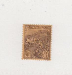 MONACO (MK6344) # B6 F-MH SM.TEAR 50c + 50c VIEW OF MONACO /BROWN-BUFF CV $190