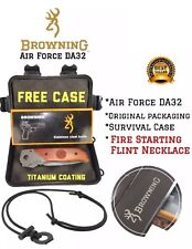 Browning DA30 Air Force Knife Hard Case FREE FireStarer Flint Necklace