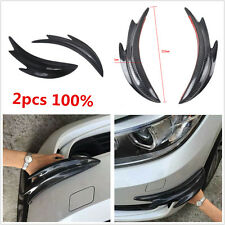 Real Carbon Fiber 2pcs Body Front Bumper Spoiler Shark Fins Canards Splitter Car