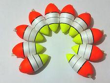 10 hard foam fishing float with light stick plug-in tube size 10.5cm x5.3cm
