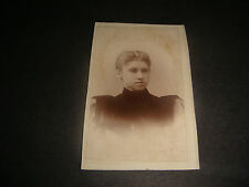 Antique Cabinet Photograph,Photo of Young Lady in High Neck Black Dress, S1413