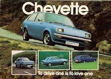 Vauxhall Chevette 1978-79 UK Market Foldout Brochure Saloon Hatchback Estate