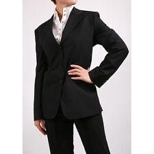 ferrecci mujer 3 Botones Dos Piezas Pantalones Chaqueta Traje negro - Italiano
