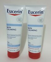 Lot of 2 Eucerin SKIN CALMING CREME, 8 oz