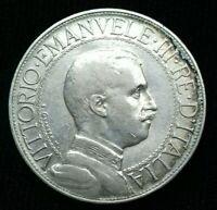 Italie . 2 Lire 1912 Argent vittorio emanuele III